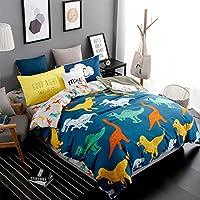gwell dibujos animados 4 piezas ropa de cama Funda Nórdica + Sábana Bajera + 2 x