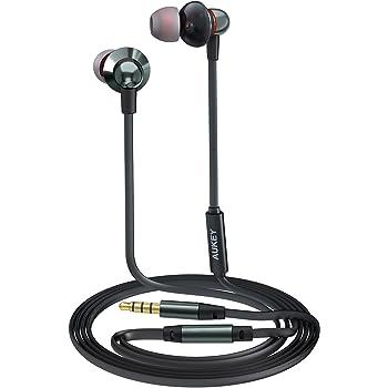 AUKEY Auricolare Stereo Cuffie con Microfono con Cavo di 1,2m In Ear per iPhone, Samsung Smartphones con Jack Audio di 3,5mm (EP-C8, Grigio)