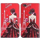 TienJueShi Goddess Flip Book-Stand Cuir Housse Coque Etui Cas Couverture Protecteur Case Cover Skin Pour ALCATEL POP 4 7070X 4G 6 inch