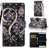 Lomogo [Huawei P9 Lite] Hülle Leder, Schutzhülle Brieftasche mit Kartenfach Klappbar Magnetverschluss Stoßfest Kratzfest Handyhülle Case für Huawei P9Lite - YIBO32364#6