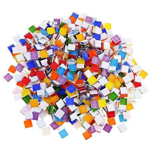MagiDeal Set De 390 Mosaïque En Verre Multicolore Décor Créatif De Tasse DIY Artisant