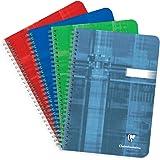 Clairefontaine 8536C - Cuaderno con espirales A5 interior rayado horizontal de 100 páginas, colores surtidos, 1 unidad