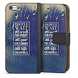 DeinDesign Apple iPhone 5c Étui Étui Folio Étui magnétique People Wait