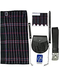 Tartanista - Ensemble Scottish National 5 pièces pour homme - kilt/sporran/broche/ceinture/flashes
