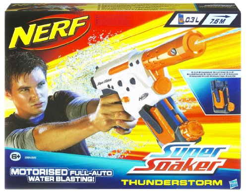 Imagen principal de Super Soaker - Pistola Agua Thunderstorm Elc. Pilas 28X35X7 (Hasbro) 27-28495