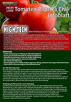 Tomatendünger Paprika Dünger Chilli düngen, Premium Flüssigdünger aus der Profi Linie von GREEN24 - Du und dein Garten