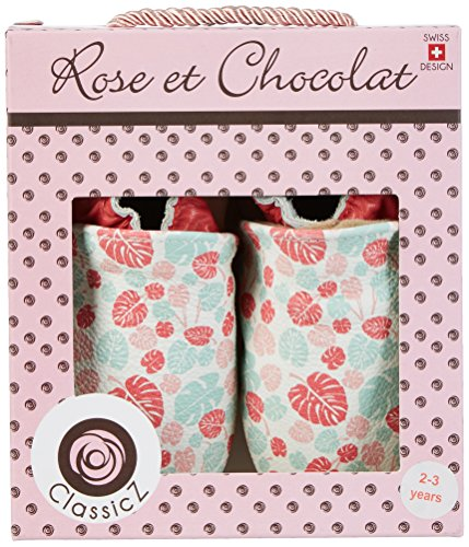 Rose & Chocolat Maui Leaf Print, Chaussures Marche Bébé Fille Mehrfarbig (pink)