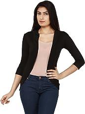 Teemoods Women's Cotton 3/4th Sleeves Fashionable Shrug, Summer Shrug for Ladies