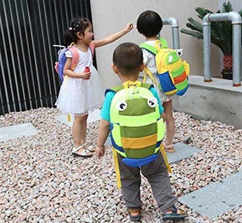 Ohmais Kinder Mädchen Junge Unisex Rucksack Schule Grundschule Kindergarten Zeichnung grün