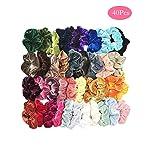 Fankle 40 Pcs Hair Scrunchies Velvet Elastic Hair Bands Hair Ties Ropes Scrunchie for Women or Girls Hair Accessories...