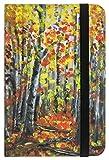 """'STI 63546–2–Quaderno con 192pagine misura 93X 140mm, a righe, motivo: autunno foresta"""""""