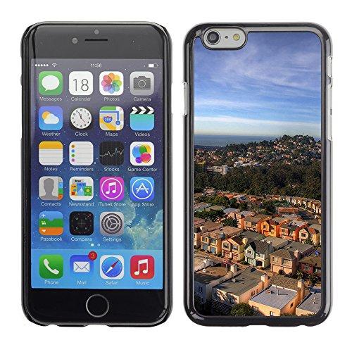 Graphic4You San Francisco Postkarte Ansichtskarte Design Harte Hülle Case Tasche Schutzhülle für Apple iPhone 6 / 6S Design #1