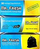 #10: Protokart Mr Fresh Premium Garbage Bags, 19 x 21 inch Medium size, Pack of 3 rolls (3 X 30), 90 Bags, Trash Bin / Dust Bin bags, with unique detachable tie-tape to tie the bags