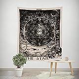 Sternzeichen Astrologie Wandteppich Hippie Bohemian Sonne Mond Wandbehang Dekotuch Wandtuch Tapestry Tapisserie Strandtuch 200x150cm