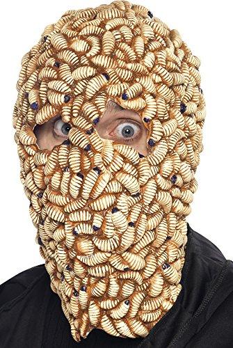 Big Teaze Toys Smiffy's 21957 - Maggot Mask - Maden, Einheitsgröße Erwachsene, beige/braun