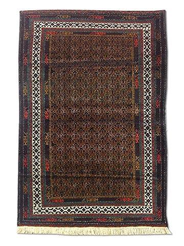 Handgeknüpfter Baluchi Teppich, Schwarz, Wolle, 121 X 178 cm