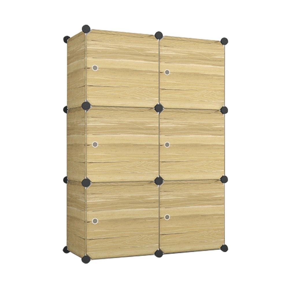 Steckregal aus kunststoff-boxen  MCTECH® DIY Aktenschränke Regalsystem Steckregal Kleiderschrank ...