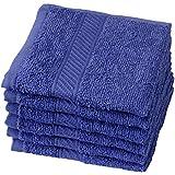 Trident Everyday Plus Solid 6 Piece 400 GSM Cotton Face Towel Set - Carbon Paper