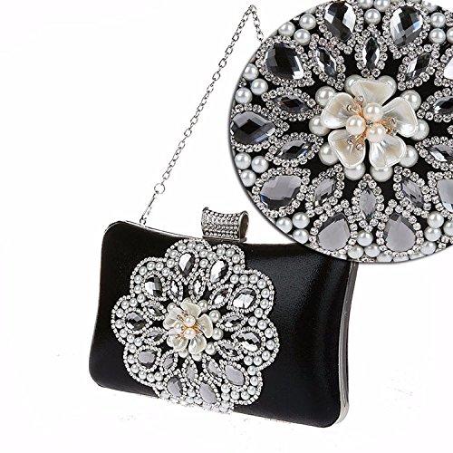 Pearl, Modisch, Exquisite, Diamond, Bankett - Tasche, Hand - Tasche black