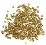 Beadsnfashion Seed Bugles Beads Golden (...
