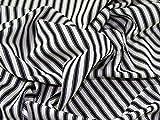 Inlett Streifen gewebt Baumwolle Möbelstoff, Meterware, Schwarz