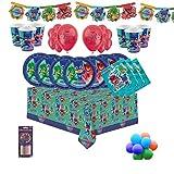 PJ Masks Party Vajilla Kit de fiesta infantil de cumpleaños para