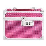 STRIPES Women's Metal 2 Layers Make Up Box (Pink)