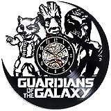 BiuTeFang Wanduhr Schallplatten Vinyl Diffuse Cartoon Galaxy Escort Vinyl Material Schwarze Kleber Rekord Wanduhr