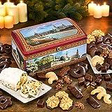 Dresdner Truhe, Keksdose mit Weihnachtsgebäck, Mix aus Lebkuchen, Spritzgebäck & Co., Metall-Box, ideales Weihnachtsgeschenk, 1 x 2,05 kg