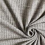 Fabulous Fabrics Strickstoff Waffelpiqué – Hellgrau — Meterware ab 0,5m — zum Nähen von Pullovern, Strickjacken und Schals und Tüchern