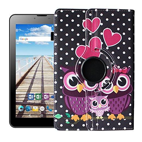 UC-Express Odys Sense 7 Plus 3G Tablet Hülle Tasche Schutzhülle Case Cover 360°, Farben:Motiv 3