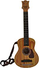 Powerpak Kids Plastic Music Star 6 String Entry Level Toy Guitar, 29-inch (Brown, 6815A1)