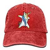 Aoliaoyudonggha Unisex Dabbing Unicorn Yarn-Dyed Denim Baseball Cap Adjustable Glacier Cap for Men Or Women