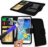N4U Online® - Various Colours Clip On PU Leather Wallet Case Cover & Tempered Glass For Archos 50 Power