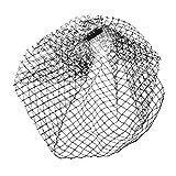 MagiDeal Haarnetz, Gesichtsschleier, Brautbirdcage, Vogelkäfig Schleier, Birdcage Brauthut mit Netz Schleier Veil, mit Haarkamm Schwarz