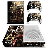XBox One Slim + 2 Controller Aufkleber Schutzfolien Set - Assassins Creed Origins (1) /One S