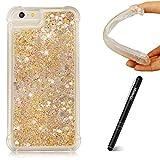 Slynmax Kompatibel mit iPhone 6 Plus Hülle,iPhone 6S Plus Handyhüllen Silikon Treibsand Case Weich Durchsichtige Handytasche Glitter Tasche Bumper Protective Case für iPhone 6 Plus/6S Plus 5.5