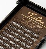 Fabu Eyelash Extensions Russian Volume 3D Fans, C curl, Thickness/Diameter 0.10, MIX (12mm-15mm) INCLUDES LENGTHS 12mm, 13mm, 14mm, 15mm