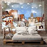 Sfit Tapisserie Murale Chambre Tapisseries Décoratives Tapis de Plage Nappe de table Courverture Style Noël