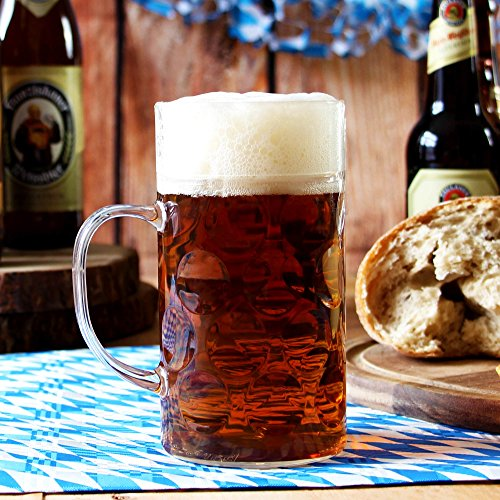 Kunststoff Bier Stein 1 Pint – 568 ml – Deutsch Stil behandelt Bierkrug Bierkrüge, Deutsch