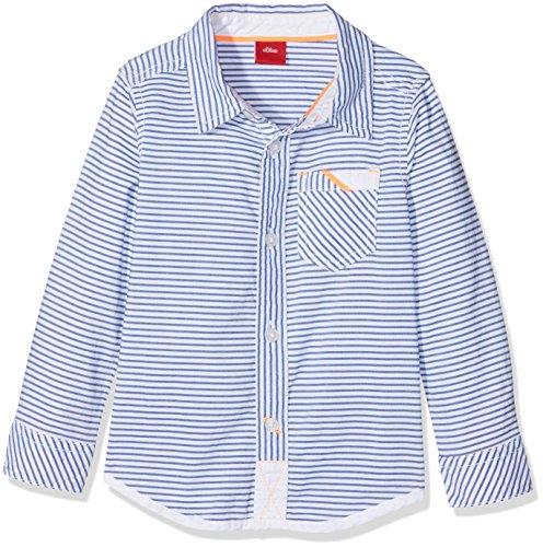 s.Oliver Baby-Jungen Hemd 65.804.21.6951, Weiß (White Stripes 01g9), 74