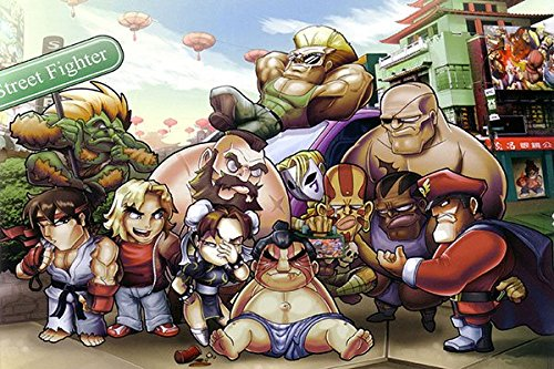 Lawrence Painting Street Fighter 2 4 Game Canvas Wall Posters HD Big  Posters and Prints Customize Home Decoration Super SF Turbo 54