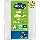 Silentnight Anti-Allergy,Mattress Protector Plus, White, Double, Anti - Bacterial Mattress Protector