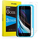 SPARIN 3 Pack Protector de Pantalla Compatible con iPhone SE 2020, iPhone 8, iPhone 7 y iPhone 6s, Sin Cobertura Toda, Crista