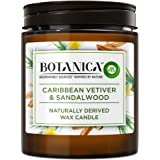 Botanica by AirWick Air Freshener Naturally Derived Wax Candle, Vetiver & Sandalwood, Up to 40 Hours Burn Time