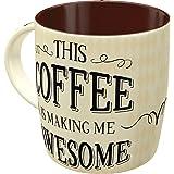 Nostalgic-Art Taza Retro Word Up – Awesome Coffee – Idea de Regalo para los Amantes del café, Cerámica, Diseño Vintage, 8.5 x