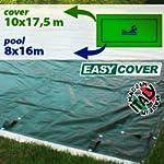 Telo di copertura invernale per piscina 8 X 16 mt predisposto per tubolari