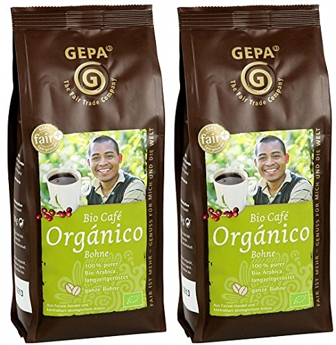 GEPA Bio Kaffee Organico ganze Bohne 500 g (2 x 250g)