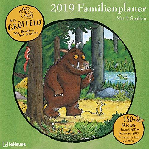 Der Grüffelo 2019 - Kinderkalender, Familienplaner mit 6 Spalten und Stickern, 17-Monate  -  30 x 30 cm