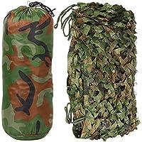 Yahee Woodland Camo Net Camouflage Net Tarnnetz für Jagd Camping in Größen S / M / L